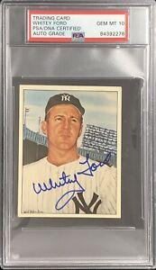 Whitey Ford Signed 1983 TCMA #13 Card 50 Years Yankees HOF PSA/DNA Auto Gem 10