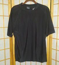 Nike Large Black Short Sleeve Nylon Spandex Men's Shirt