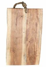 Natural Acacia Wood Kitchen Chopping Bread Board With Rope