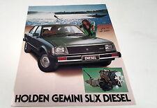 1981  HOLDEN GEMINI  SLX DIESEL   Australian Sales Leaflet