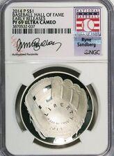 2014-P $1 Baseball Hall of Fame Ryne Sandberg NGC (Proof)PF-69 UC Early Releases