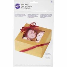 Wilton 415-0953 4-Cavity Kraft Cupcake Cookies Party Gift Window Boxes, 3-Pack