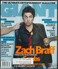GIANT MAGAZINE March 2006 Zach Braff Scubs Justin Long Ali Larter Blade Runner