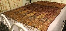 """Antique Victorian Square Ornate Paisley Throw 45"""" x 91"""""""