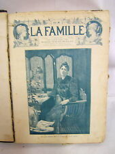 LA FAMILLE ANNEE 1893 JOURNAL  RELIE MODE ILLUSTREE