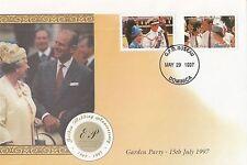 (43426) Dominica FDC Queen Royal Golden Wedding 1997
