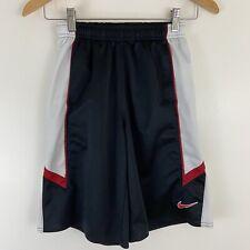Boys Nike Basket Ball Shorts Knee Length Black Red Size S 8
