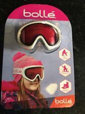 Bolle' Kids Snow Goggles Tinted Lens w/ Storage Bag Anti fog Anti Scratch