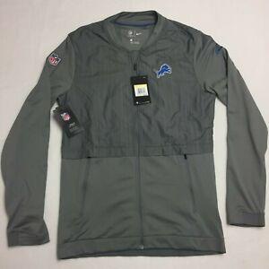 Nike NFL Detroit Lions Outer Elite Hybrid Jacket Full Zip Mens Small S Gray NEW