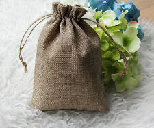 100pcs Mini Faux Hessian Bags wedding bomboniere Gift bags 13x18cm  MB12-100