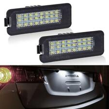 2Pcs White 24-SMD LED License Plate Lamp Lights for Volkswagen Golf4/Golf5/Golf6