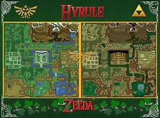 Zelda MAP - A Link to the Past - Wall Poster - 22in x 34in ( Fast shipping ) 01