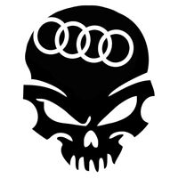 Calavera audi Tuning sticker, auto Fun pegatinas, sticker-Bomb