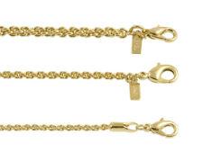 New 18K Gold Plated Fancy Rope Chain Necklace Or Bracelet - LIFETIME WARRANTY