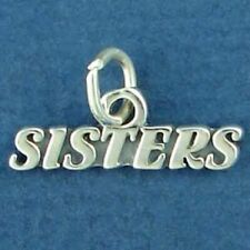 SISTERS SISTER CHARM PENDANT sterling silver WORDS LOVE