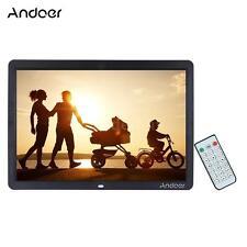 "Andoer 15"" HD LED Digital Picture Frame Album Electronic Photo Frame black EU"