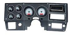 1973-1987 Chevy Truck C10 Silver Alloy & Red Dakota Digital VHX Analog Gauge Kit