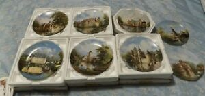 Moated Castles by Eleonore Guinther Limited Edition Plates x 8
