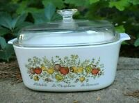 Corning Ware A-5-B Spice of Life Casserole 5 Liter with Pyrex A-12-C Lid - EUC