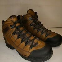 Danner 37510 Mens Gore Tex Brown Leather Hiking Boots Lace Up SZ 14