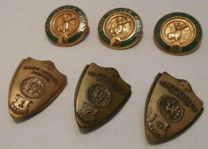 Lot of 6 Vintage Safe Driving Awards - Pins - Hartford Accident & Indemnity Co.