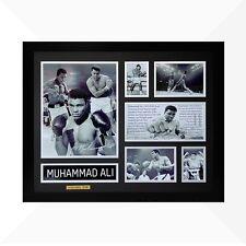Muhammad Ali Signed & Framed Memorabilia - Black/Silver Limited Edition - Boxing