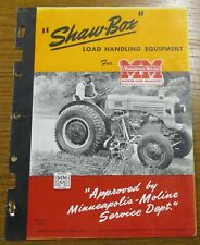 Minneapolis Moline shaw-box load handling equipment cool cover picture brochure