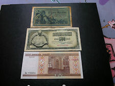 RARRE Germany 5 Mark 1904 + Yugoslavia 500 Dinara 1978 + Belarus 20 Roubles 2000
