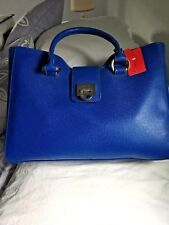 NWT Ivanka Trump Rebecca Cobalt Zipper Satchel Hand/Shoulder Bag T1618