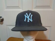 New Era MLB 59Fifty Emboidered Logo Gray New York Yankees Cap Hat 7 1/8