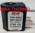 solenoid coil M M 230VAC 10VA 50Hz coil type 2700 seat  10mm
