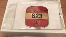 Royal Mail  badge 823 TN Brass and Enamel UNUSED IN ORIGINAL PACKAGING / CARD