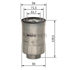 Fuel Filter BOSCH 1457434453 for MITSUBISHI PAJERO II Canvas Top 2.5 TD 4WD III