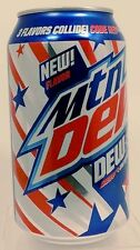 "NEW FLAVOR FULL Pepsi Mountain Dew ""Dew S A"" Code Red-White Out-Voltage USA 2017"