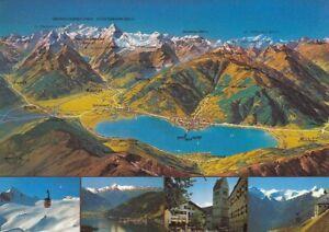 Zell am See gegen die Hohen Tauern, Panoramakarte ngl E3119