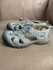 KEEN Venice H2 women's 8 Water Hiking Sandal, light blue/lime