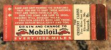 1930's Mobiloil Gargoyle Gasoline/Oil Matchcover Hancock, ME