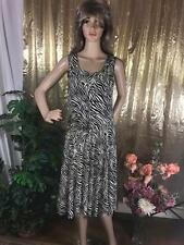 Summer Dress, Poly and Spandex Black and White, M