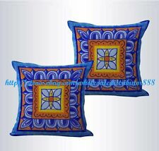 US SELLER-set of 2 talavera Mexican Spanish cushion cover throw pillows on sale