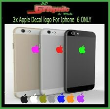 3x Adesivo Pelle con Logo Apple Decalcomania Pellicola Per iPhone 6/6s/7/8