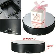 Turntable Display Stand Show 360° Rotating Rotary Holder Battery Power Mirror