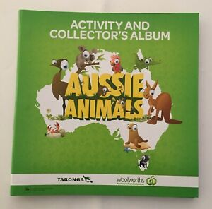 1 FULL SET OF WOOLWORTHS AUSSIE ANIMALS 108 COLLECTOR CARDS + GREEN ALBUM
