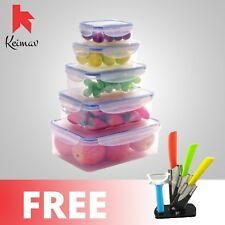 Keimavlock 10-Pc Airtight Food Storage with Ceramic Knife with Peeler and Stand