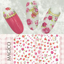 3D Nail Sticker Multicolor Rose Floral Pattern Manicure Decal Decor Tips