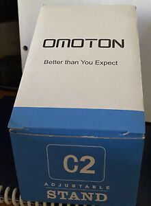 Upgraded Aluminum Cell Phone Stand, OMOTON C1 Durable Cellphone Dock Black New