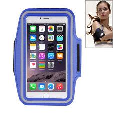CUSTODIA per IPHONE 6S PLUS SPORT con Fascia braccio BLU Cover Palestra NUOVA