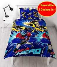 NEW TRANSFORMERS MOVIE OPTIMUS PRIME SINGLE DUVET QUILT COVER SET BOYS BLUE BED