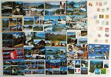 Postkarten Sammlung SCHWEIZ 61 x Mehrbildkarte color, frankiert mit Briefmarken