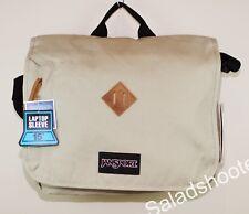 JanSport Crosstalk School Messenger Shoulder Bag Desert Beige New with Tags