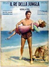 CINEMA ILLUSTRAZIONE SUPP. N.7 1933 RE DELLA JUNGLA BUSTER CRABBE FRANCES DEE